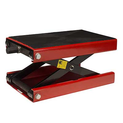 Dragway Tools Wide Deck Motorcycle Center Scissor Lift Jack, 1100 LB
