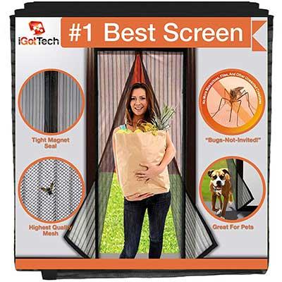 iGotTech Magnetic Screen Door, Full Frame Seal