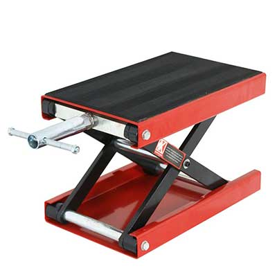 ZENY Wide Deck Motorcycle Center Scissor Lift Jack-1100 LB