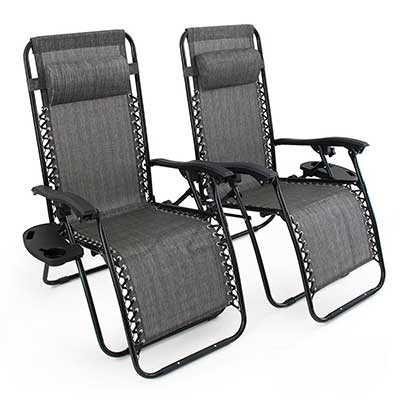 Belleze 2PC Zero Gravity Chairs Lounge
