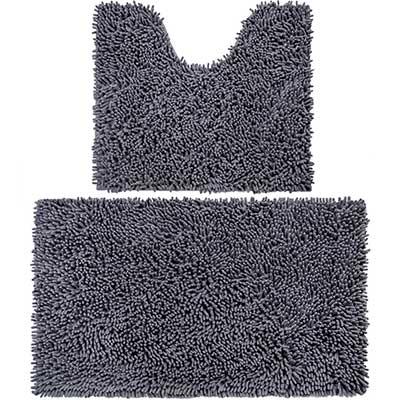 Vdomus Microfiber Bathroom Contour Rugs Combo