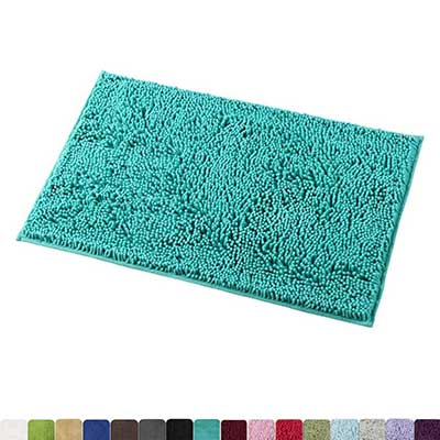 MAYSHINE Non-Slip Bathroom Rug Shag Shower Mat Machine