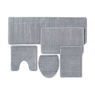 Bathroom Rug Mat, 5-Piece Set Memory Foam