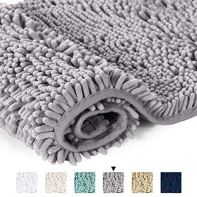 H.VERSAILTEX Microfiber Bath Rugs Chenille Floor Mat
