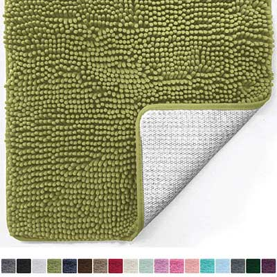 Gorilla Grip Original Luxury Chenille Ville Bathroom Rug Mat