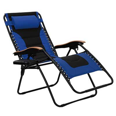 PHI VILLA Oversize Padded Zero Gravity Lounge Chair