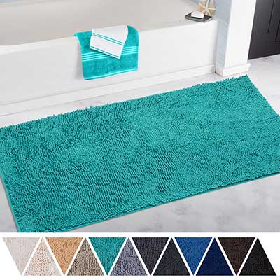 DEARTOWN Non-Slip Thick Microfiber Bathroom Rugs