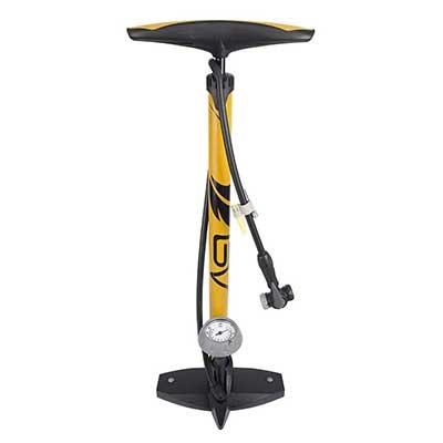 BV Bicycle Ergonomic Bike Floor Pump with Gauge and Smart Valve Head