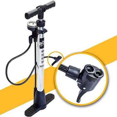 BoG Products Bicycle Floor Pump with Pressure Gauge