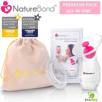 NatureBond Silicone Breastfeeding Manual Breast Pump Milk Saver