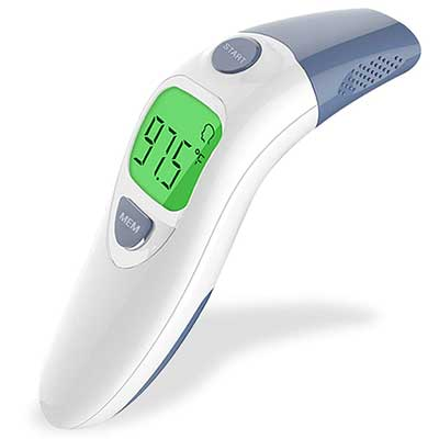 Hobest Baby Thermometer, Clinical Tested Infrared Forehead, and Ear Thermometer