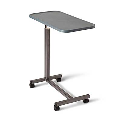 Medline Adjustable Overbed Bedside Table with Wheels