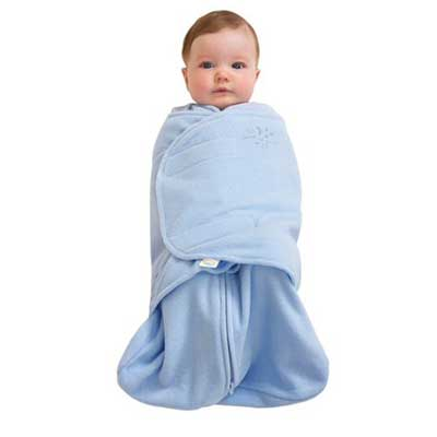HALO SleepSack Micro-Fleece Swaddle, Baby Blue