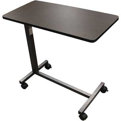 Drive Medical Non-Tilt Overbed Table, Silver Vein