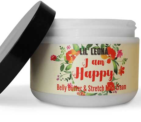 Lil Leona Pregnancy Cream for Stretch Marks: Made with Shea Butter and Vitamin E-8 OZ