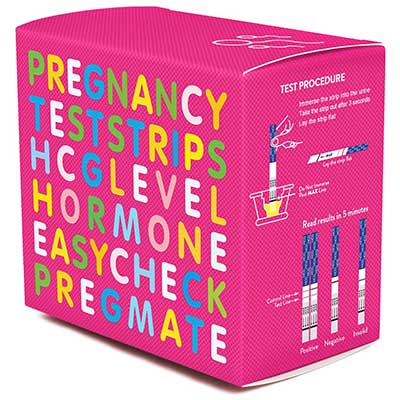 PREGMATE Pregnancy HCG Test Strips One Step Urine Test Strip Combo