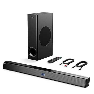 Sound Bar with Subwoofer, ABOX Soundbar for TV 34 Inch 120W