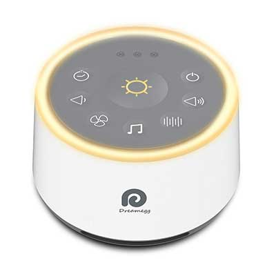 Dreamegg D1 White Noise Sound Machine with Baby Soothing Night light