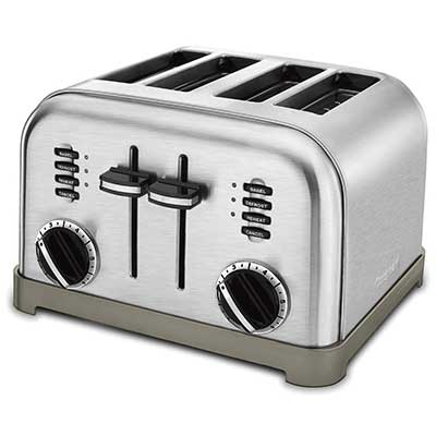 Cuisinart CPT-180 Metal Classic 4-Slice Toaster, Brushed Stainless Steel