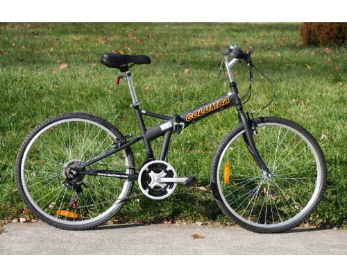 Columba 26-Inch Folding Bike w.Shimano 18 Speed Black