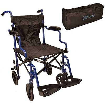 Elite Care Super Lightweight Folding Transport Travel Wheelchair in a Bag
