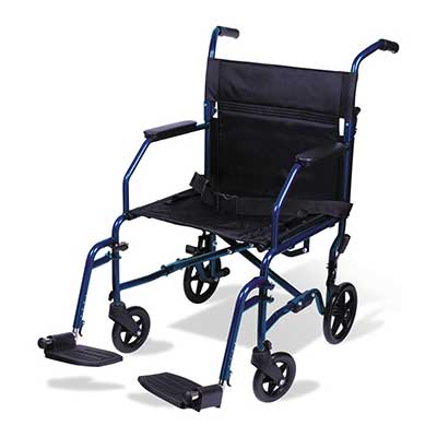 Carex Transport Wheelchair 19-Inch Seat Folding Transport Chair