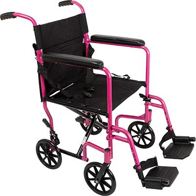 ProBasics Aluminum Transport Wheelchair – 19-Inch Wheel