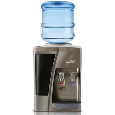 Nutrichef Countertop Water Cooler Dispenser –Hot and Cold Water
