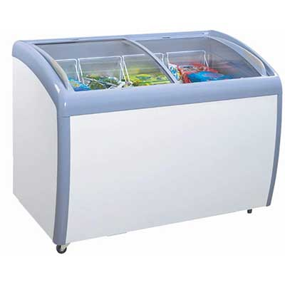 Atosa MMF9109 Angle Curved Top Chest Freezer 9 Cubic Feet
