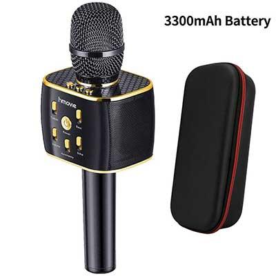 3300mAh Wireless Karaoke Microphone 12W Hi-Fi Bluetooth Speaker