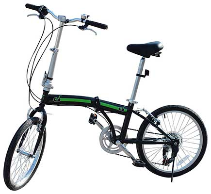 EBS Folding Bike, Commuter Folding Bicycle 20-Inch