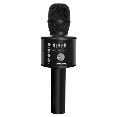 BONAOK Wireless Bluetooth Karaoke Microphone, 3-in-1 Portable Handheld Karaoke Mic