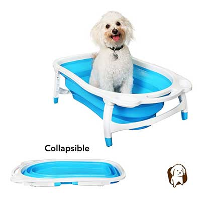 BaileyBear Porta Tubby Collapsible Portable Foldable Dog Cat Bath Tub