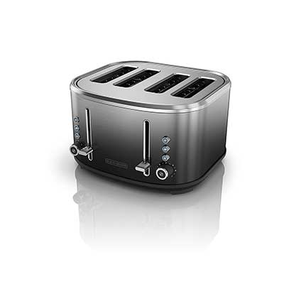 BLACK + DECKER 4-Slice Extra Wide Slot Toaster