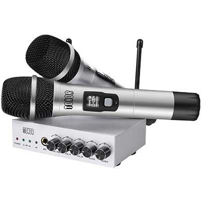 TONOR UHF Wireless Microphone System with Bluetooth Receiver