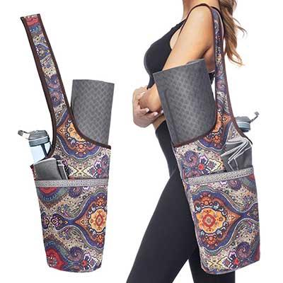 Ewedoos Yoga Mat Bag with Large Size Pocket and Zipper Pocket