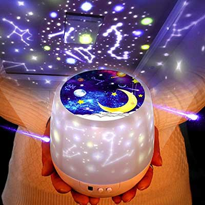 Night Lights for Kids – Luckkid Multifunctional Night Light Star Projector Lamp