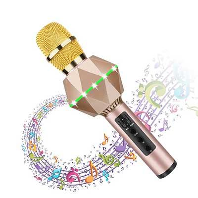 Bluetooth Karaoke Microphone for Kids Wireless Bluetooth Karaoke Machine with Speaker