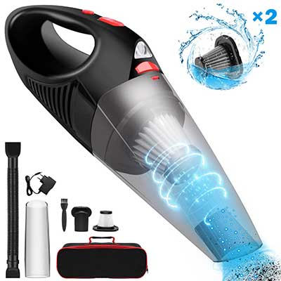 Cordless Car Vacuum Cleaner Upgraded FUJIWAY Rechargeable Handheld Vacuum Cleaner
