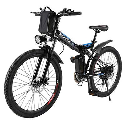 ANCHEER Folding Electric Mountain Bike with 26-inch Wheel