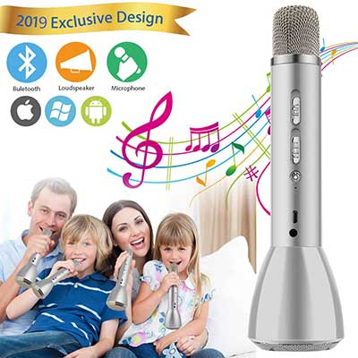 Microphone for Kids, Wireless Kids Karaoke Microphone Bluetooth Child Echo Portable