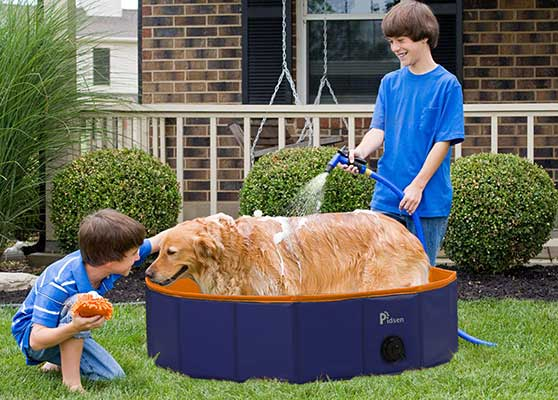 Pidsen Foldable Dog Pet Bath Pool Pet Swimming Tub