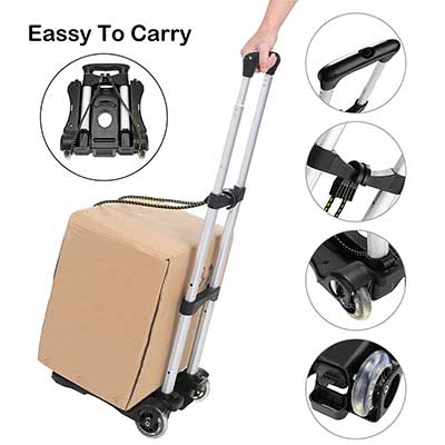 Coocher Aluminum Folding Portable Luggage Cart