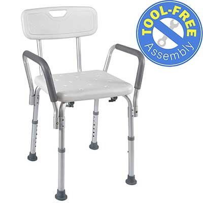 Medical Tool-Free Assembly Spa Bathtub Shower Lift Chair