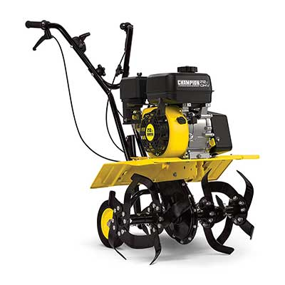 Champion 22-Inch Dual Rotating Front Tine Tiller with Storable Transport Wheels