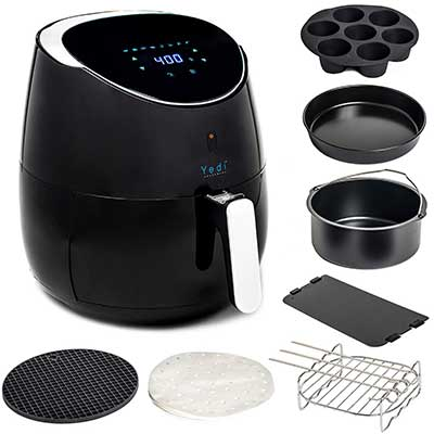 Yedi Total Package XL Large Air Fryer, Deluxe Accessory Kit