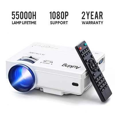 Mini projector 2019 Upgraded Portable Vide-Projector, 55000 Hours