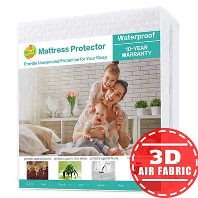 SOPAT Queen Mattress Protector 100% Waterproof Mattress Pad Cover