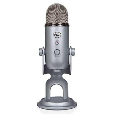 Blue Yeti USB Microphone – Silver