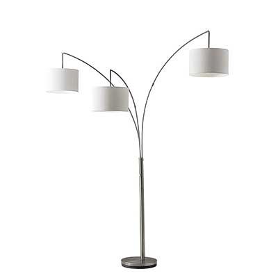 Adesso Trinity 3 Arc Floor Lamp – Satin Steel Color